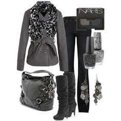 I have an outfit very similar to this and I love this!!! A peacoat is a must in my closet and a cute scarf is a win win:)