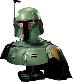 Star Wars Boba Fett Life-Size Bust by Sideshow Collectibles Star Wars Merchandise, Star Wars Boba Fett, The Empire Strikes Back, Sideshow Collectibles, Star Wars Collection, 30th Anniversary, Mandalorian, Action Figures, Statues