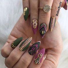 Gray Nails, Purple Nails, Work Nails, Fun Nails, Nail Ring, Nail Manicure, Pretty Nails, Gorgeous Nails, Diy Nail Designs