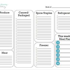 74 best meal planning resources images in 2018 weight watchers