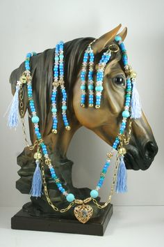 Horse Extentions Beaded Mane Saddle/Bridle Clips by Meadowdancer1, $55.00