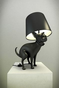 Chihuahua Pooping Dog Lamp I should buy one of these. Eclectic Table Lamps, Illusion Kunst, High Design, Best Puppies, Dog Rooms, Boy Dog, Lamp Design, Light Up, Cat Light