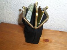 Taschen - Joisys® Bügeltasche 2-fach Geldbörse schwarz - ein Designerstück von Leinen-Traum bei DaWanda