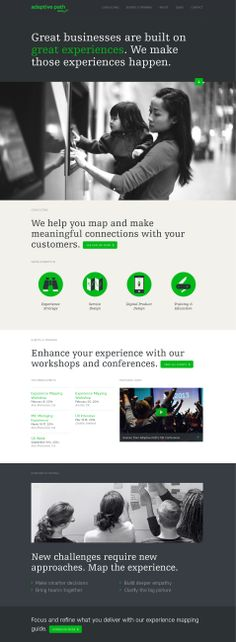 Web design inspiration: Text area above large photo area