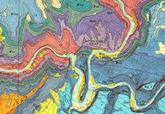 Detail from geologic map of the confluence of the Green and Yampa rivers showing Mitten Park fault in Dinosaur National Monument, Colorado/Utah.