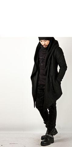 Avant Garde Unbeatable Diabolic Hood Cape Black Coat - Jackets   RebelsMarket