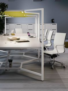 Office workstation HUB by FANTONI | design Matteo Ragni
