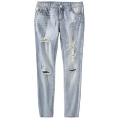 Junior's Super Skinny Denim Light Denim ($14) ❤ liked on Polyvore featuring pants, jeans, bottoms, trousers and juniors