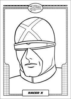 Dibujos para Colorear Speed Racer 1