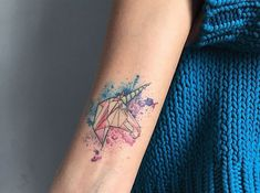 Geometric unicorn - Watercolor Tattoos