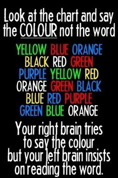 Wow, I just created a battle in my brain. Left vs. right. Not sure which side won, but I'm pretty sure I'm color blind now.