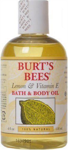 Burt's Bees Lemon & Vitamin E Bath & Body Oil, 4-Ounce Bottles (Pack of 2) by Burt's Bees, http://www.amazon.com/dp/B002DPUY9C/ref=cm_sw_r_pi_dp_kzsSqb1F35N40