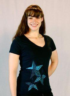 Starry, Starry Night V-Neck Tee $20.00