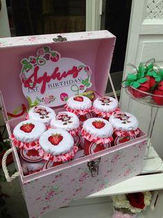 Favors at a Strawberry Shortcake Birthday Party #strawberryshortcake #partyfavors