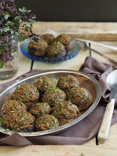 Olive and roasted garlic tapenade stuffed mushrooms by Runningtothekitchen, via Flickr