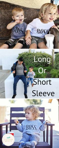 Great unisex shirt that works for both boys or girls. Explore kids fashion with funny sayings at http://www.citizenbeachapparel.com/product/bos-kids-graphic-long-sleeve-tee/ | Style