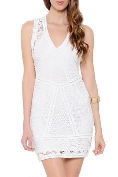 All I Want Open Back Lace Dress - White