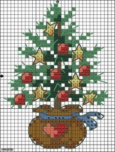 Christmas tree x-stitch