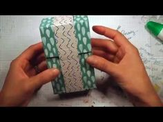 Scrappy Wednesday: Toilet Paper Roll Mini Album - great invisible hinge system shown Large Scrapbook, How To Make Scrapbook, Mini Scrapbook Albums, Mini Photo Albums, Mini Albums, Origami, Recipe Scrapbook, Mini Album Tutorial, Toilet Paper Roll Crafts