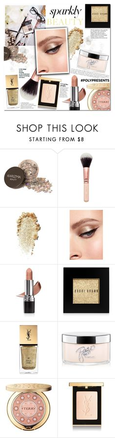 """""""#PolyPresents: Sparkly Beauty"""" by mery90 ❤ liked on Polyvore featuring beauty, Avon, Bobbi Brown Cosmetics, Yves Saint Laurent, MAC Cosmetics, By Terry, Tiffany & Co., Anja, Beauty and contestentry"""