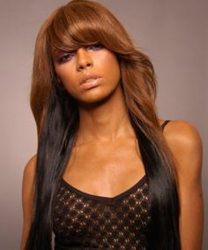 Long weave: Had this in February 2012 but only with the color at the top for the whole head: Loved It!