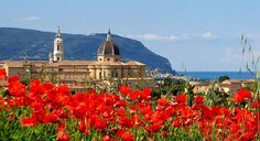 The cathedral of Loreto, surrounded by beautiful flowers and facing the Adriatic Sea Photo by Carlo Patarca.