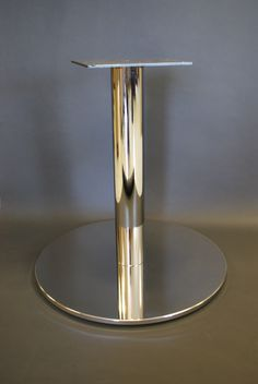 Custom Metal Disc Plateau Table Base. Finished In Bright Chrome.