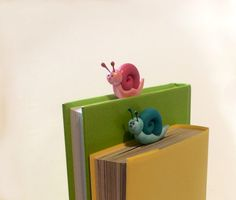 Fimo Tutorial for this cute snail bookmarks by Manuela P. Michieli