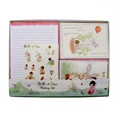 Belle & Boo Writing Set $29.95 #sweetcreations #baby #toddlers #kids #artcrafts #paint #stamp #creative #artistic