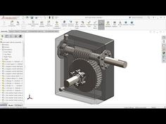 Solidworks tutorial | sketch Worm gear Reducer in Solidworks | Solidworks - YouTube