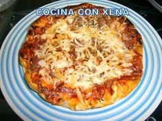 COCINA CON XENA: Pizza casera, horneada en Olla Gm con paso a paso