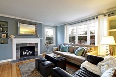 Good Cape Cod Living Room Design   Google Search Blue Wall Colors, Paint Colors,  Fireplace