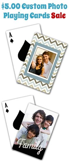 $5.00 Custom Photo Playing Cards Sale! {+ s/h} ~ these make such fun gifts or even stocking stuffers to stash away!