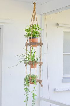 Mkono Macrame Plant Hangers Set of 4 Indoor Wall Hanging Planter Basket Flower Pot Holder Boho Home Decor Gift Box – Secret RoomzShow your plants some love with this modern, vintage-inspired macrame plant hanger. Hanging Plants Outdoor, Outdoor Planters, Hanging Planters, Indoor Plants, Diy Hanging, Patio Plants, Indoor Outdoor, Plantador Vertical, Vertical Planter