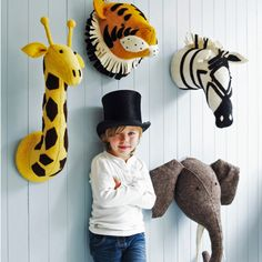 Animal joy for a child's room. #kids #decor