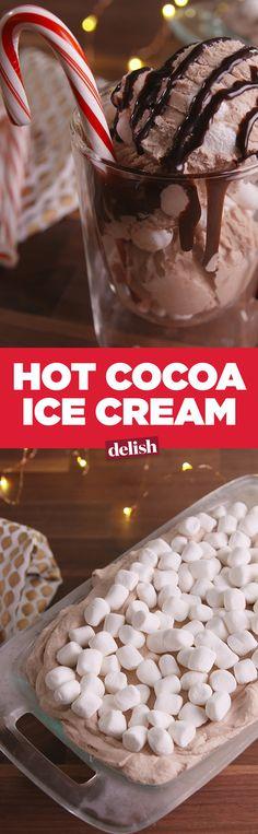 Hot Cocoa Ice Cream is breaking the internet. Get the recipe on Delish.com.