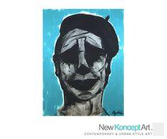 Portrait of a Mime - Original Painting. $35.00, via Etsy.