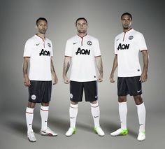 Manchester United's stars have unveiled their new away kit as the deposed Premier League champions stepped up another gear in their preparations for the season. Camisa Manchester United, Manchester United Away Kit, Manchester United Images, Official Manchester United Website, Man Utd News, Premier League Champions, Photos, Trousers, Sports