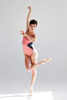 Ballet Zaida by the dancewear project: Venice Leotard - Blush with heather grey