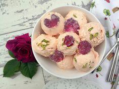 Bastani: Persian Rose and Vanilla Ice Cream with Cream Chunks and Sugar-Coated Rose Petals via @pinterest.co.uk/MaryamSinaiee1