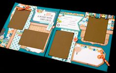 """12x12 Scrapbook Page Boy Themed Kit . A Boy Is A Noise With Dirt On It. DIY Kit or Pre-Made Double Page Layout. Echo Park """"All About A Boy"""""""