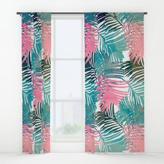 Pattern Jungle Window Curtain by Cafelab on Society6