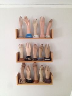 Store display hands, for displaying jewelry etc. Nice collection.