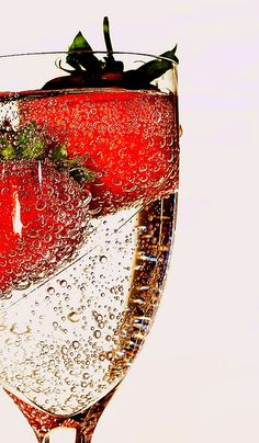 Champagne strawberries.