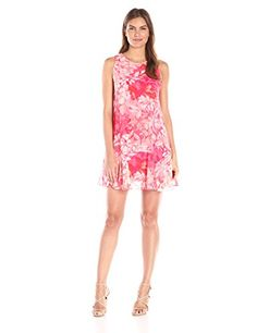 Vince Camuto Womens Printed Chiffon Shift Dress Pink 12 -- Be sure to check out this awesome product. (This is an affiliate link) Floral Chiffon Dress, Red Chiffon, Print Chiffon, Pink Dress, Vince Camuto Dress, Casual Dresses For Women, Sleeve Dresses, Women's Casual, Drop Waist