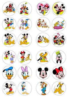 Mickey Mouse Edible Cupcake Photo Cake 12 Toppers Ebay World Baby