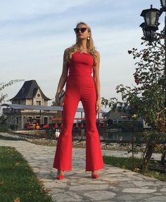 elegant overalls / elegant dress / red overalls / corset