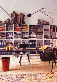 The home office of Marianne Brandi & Keld Mikkelsen in Copenhagen, Denmark