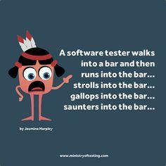 atesterwalksintoabar2 by Software Testing Club, via Flickr