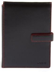 Lodis Audrey Rfid Leather Passport Wallet - Black